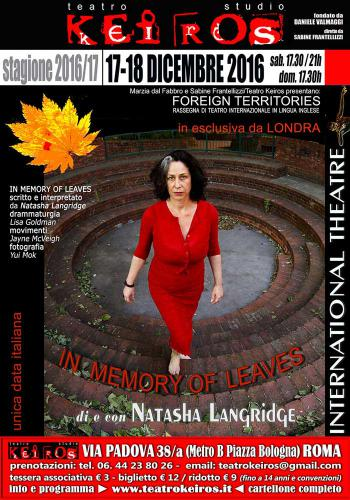 Teatro Keiros Festival - In Memory of Leaves by Natasha Langridge